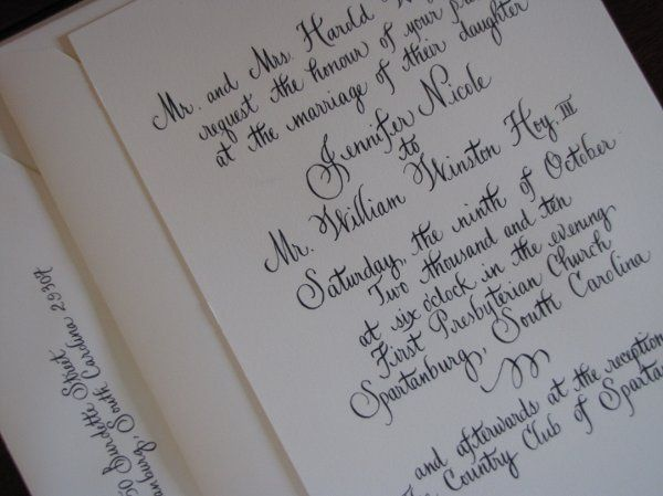 Tmx 1291085657488 Calligraphy015 Pawleys Island, SC wedding invitation