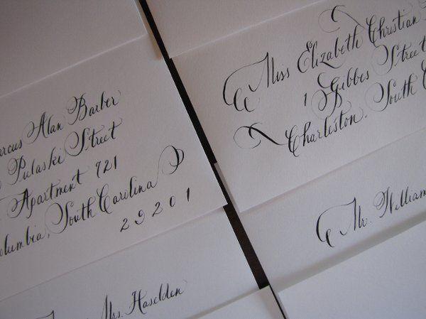 Tmx 1291089479847 Calligraphy006 Pawleys Island, SC wedding invitation