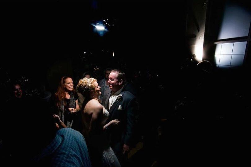 Spotlight on the newlyweds