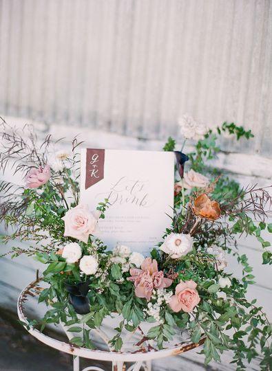 Floral on signage