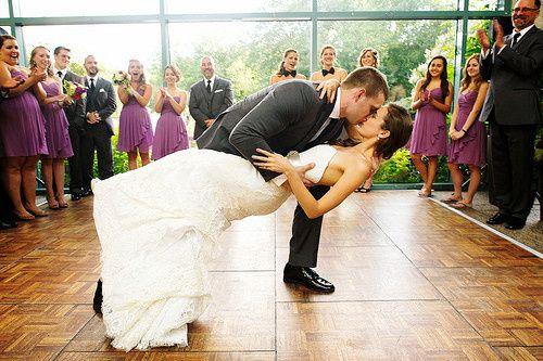 First dance ending kiss