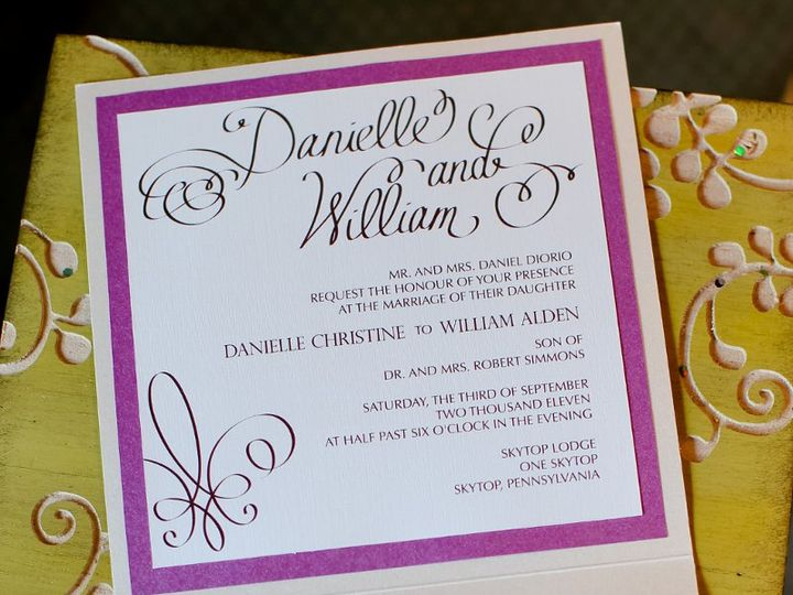 Tmx 1359642417577 DanielleWillWed0012 Kendall Park wedding invitation