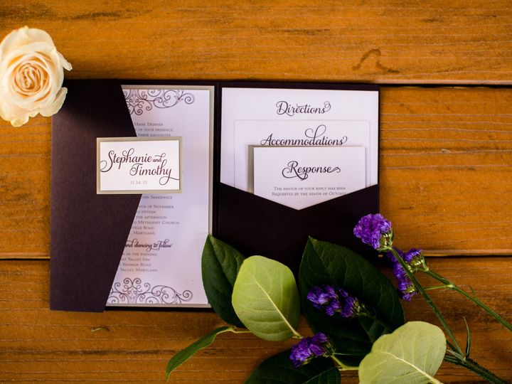 Tmx 1459903495537 Timstephsenkewiczhuntvalleyinnweddinglivingradiant Kendall Park wedding invitation