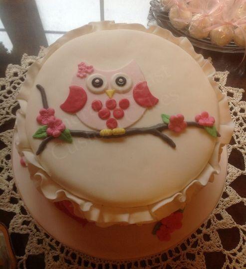 Owl designed cake