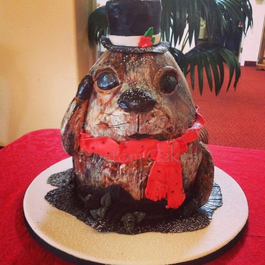 Dog designed cake