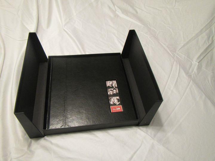 leather 50 w photo strip insert w presentation bo