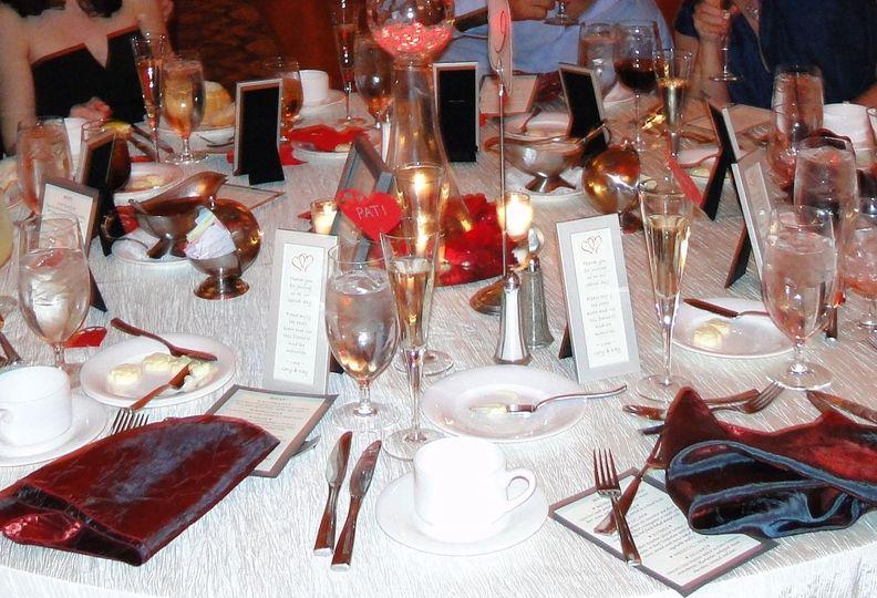 frame on table at weddin