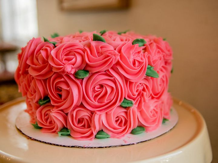 Tmx 1522969214 Ab14fc7e125bc8e8 1522969211 4118b637f68cb7a0 1522969207815 16 Pink Rose Cake Lake Stevens, Washington wedding cake