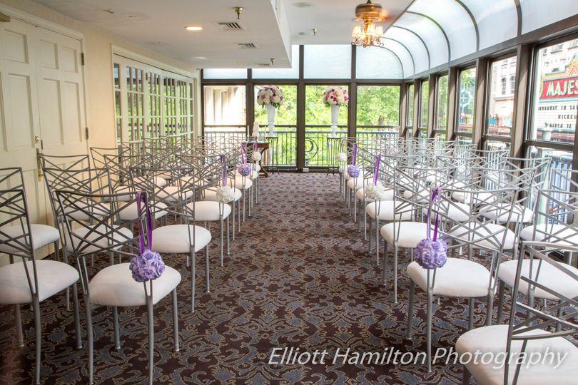 sheraton gunter terrace ceremony chairs wedding