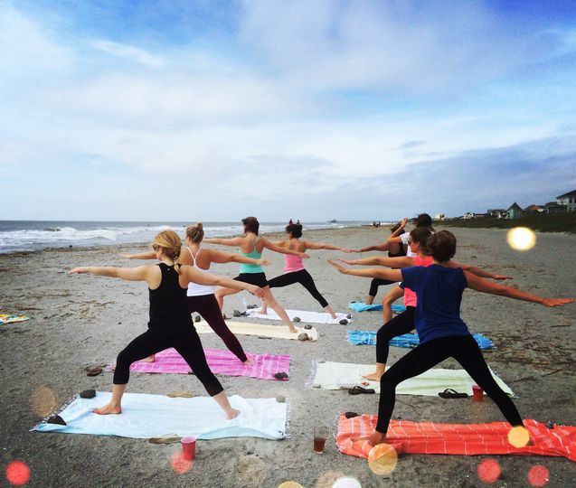 Charleston Bachelorette Yoga, Folly Beach