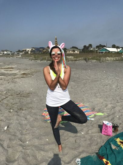 Charleston Bachelorette on Folly Beach with Serenity Tree Yoga