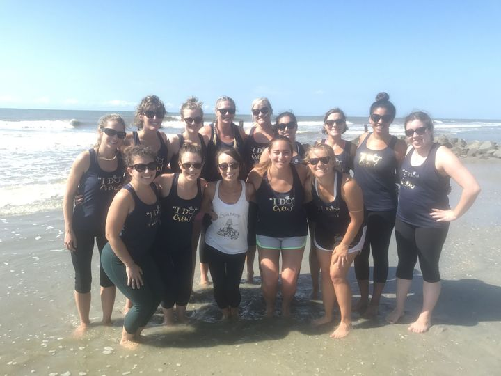 Charleston Bachelorette Party with Serenity Tree Yoga on Folly Beach