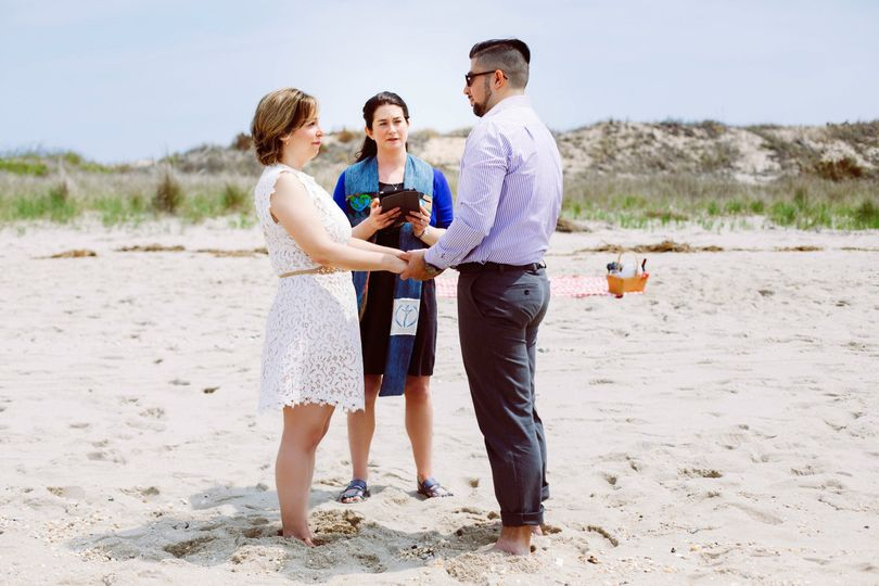 Vow renewal at the beach