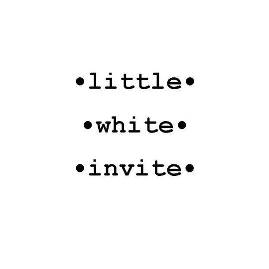 Little White Invite
