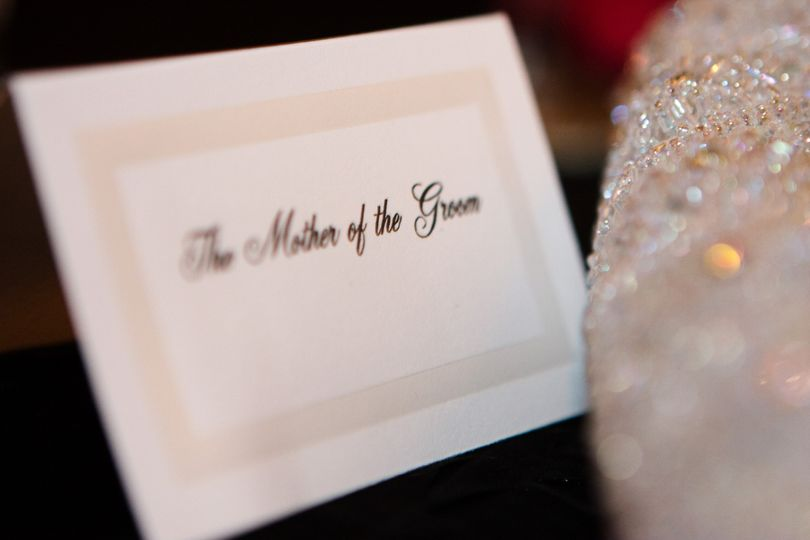 mother of the groom place card