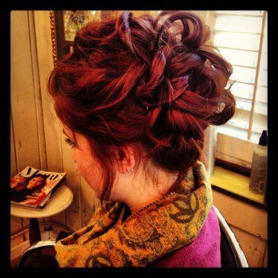 Updo fun with the stylists at Cline's =]