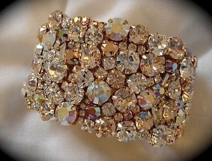 Rose Gold Crystal Cuff