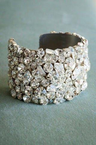 Crystal Bridal Cuff Bracelet