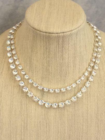 Double Strand Swarovski Crystal Necklace