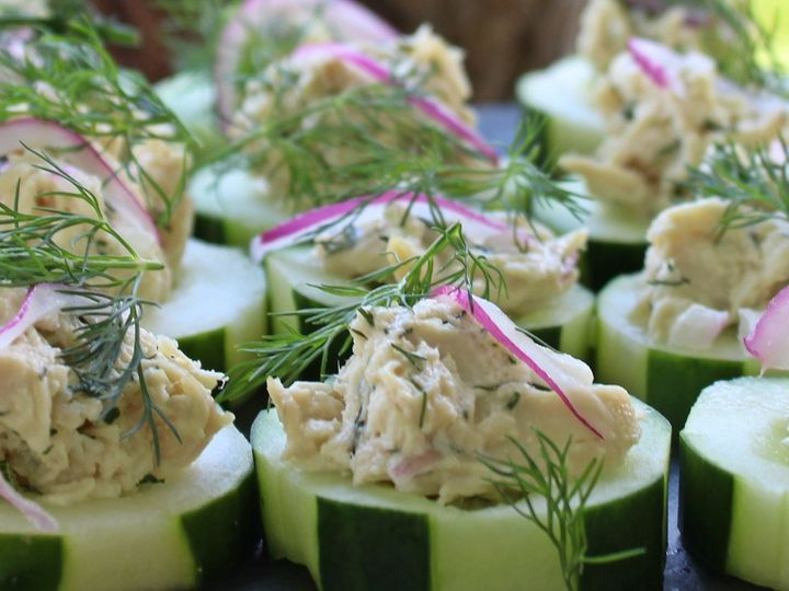 Tmx 1507597614148 Chicken Salad Canapes Raleigh, NC wedding catering