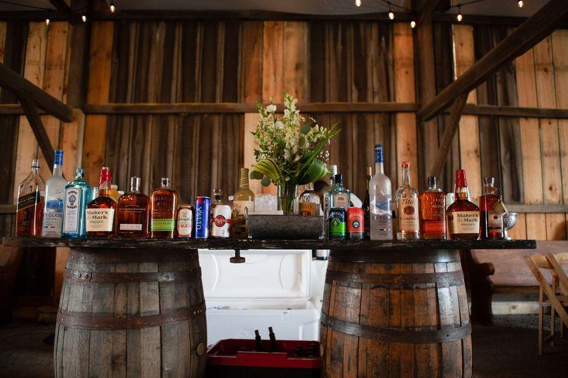 Bar inside the barn