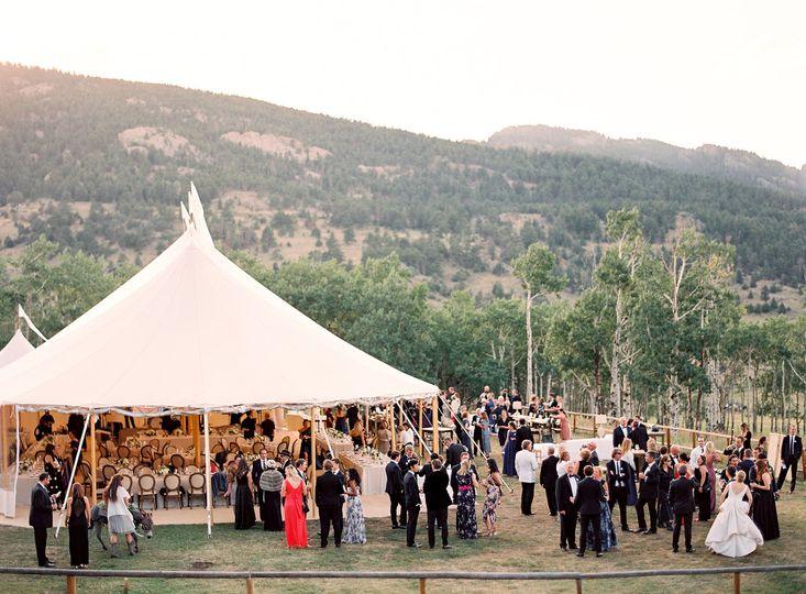 sperry pole tent colorado wedding planner calluna events reception 206 51 6842 158690351572924