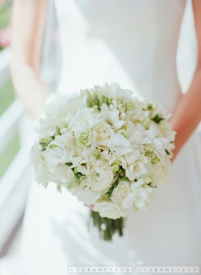 Round bouquet | Liz Banfield Photography
