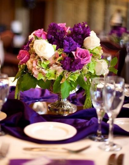 PurpleLavenderCenterpiece
