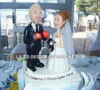 boxing cake topper 350