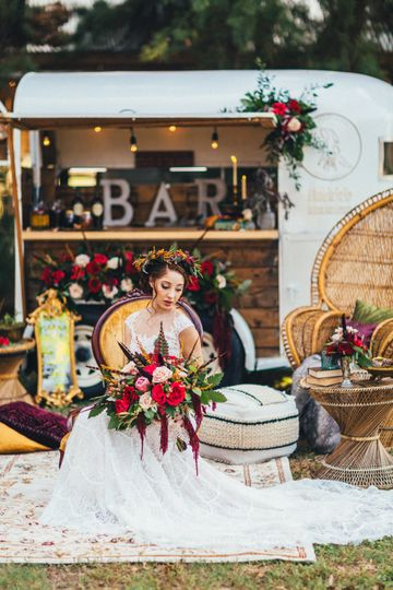 A winter boho wedding