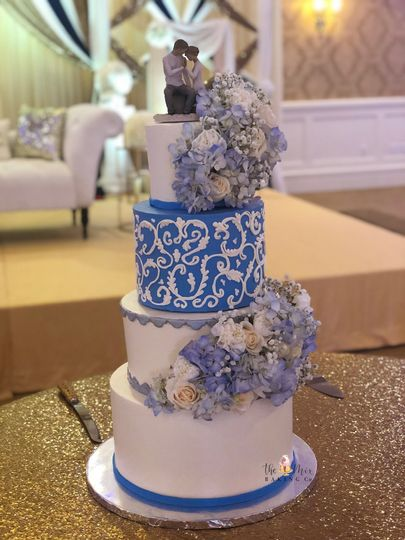 Parm and Manu's Wedding Cake