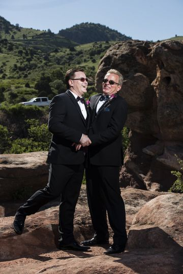 Wedding fun in Red Rocks, Colorado