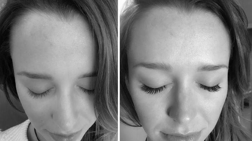 Short eyelashes to long eyelashes