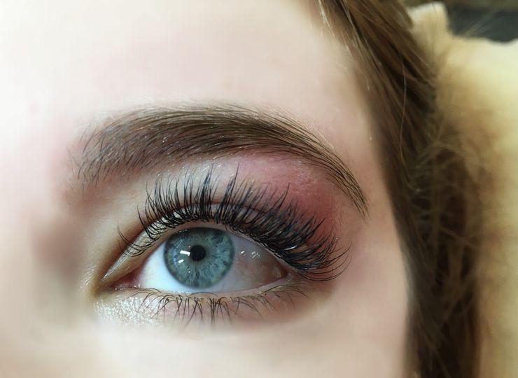 Beautiful long eyelashes