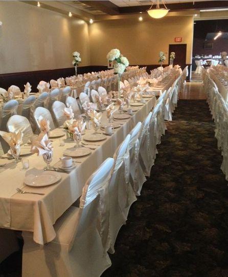 bain banquet tables