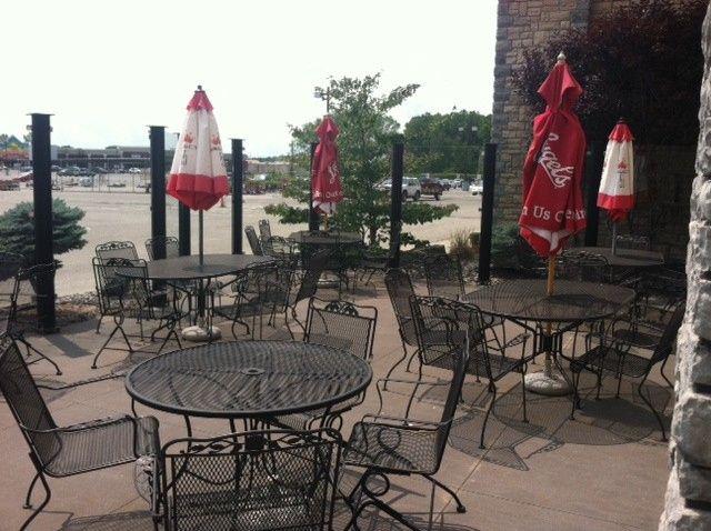 patio umbrellas down