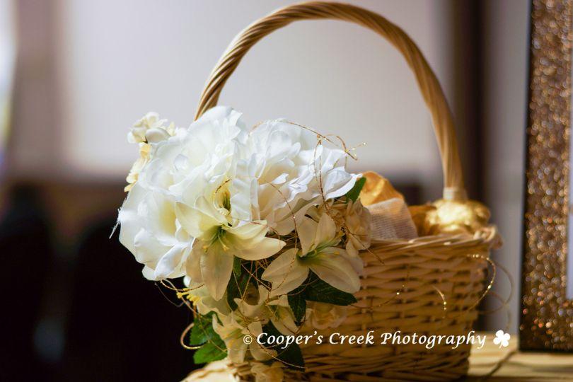 Flower in the basket