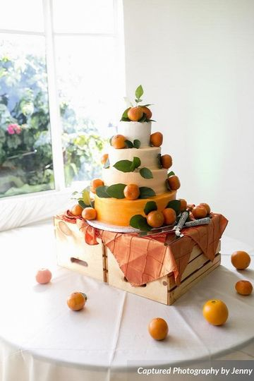 orange themed wedding cakejohnsons custom cakes