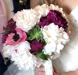 Anemone and peony bouquet