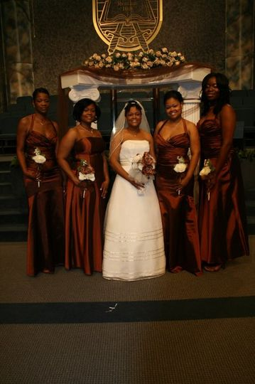 Bride with her attendants