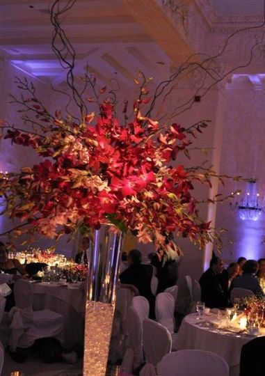 Westchester Country Club, purple up-lighting, centerpiece pinspotting.