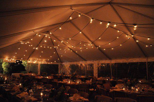 Tent festival lighting.