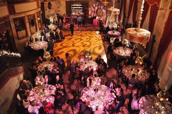Society Room of Hartford, pink floor gobo projection, dancefloor gobo projection.