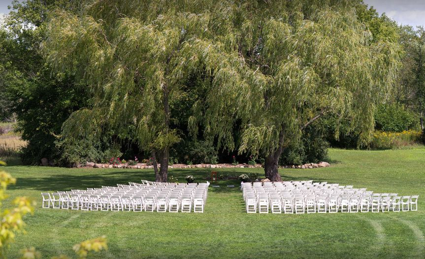 Garden ceremony set-up