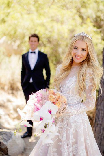 Groom behind the bride | Photography by Chard Photo, Venue Hyatt Lake Tahoe, Incline Village, Makeup...