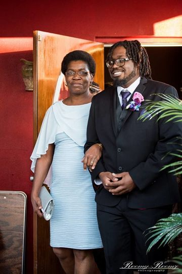 Groom and his mom