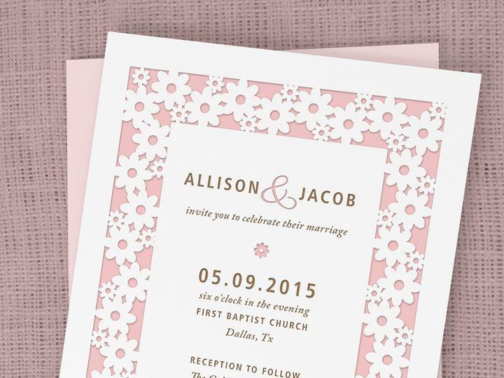 Tmx 1430232569705 Daisylovemock2b Bedford wedding invitation