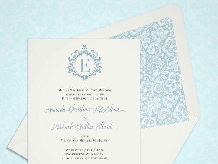 Tmx 1430232638251 Vintagelacemonogram2 Bedford wedding invitation