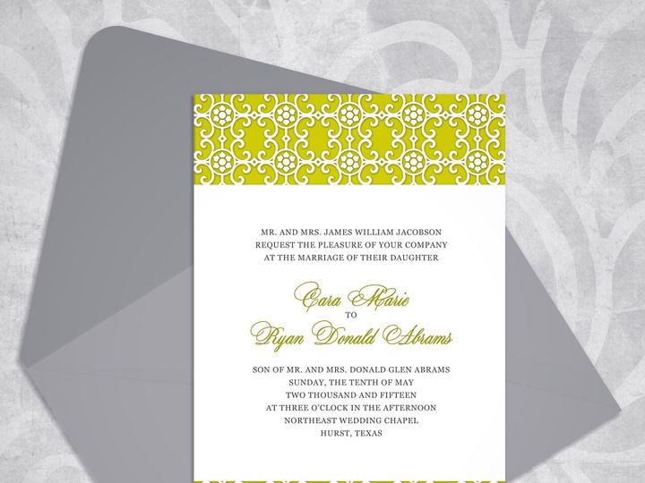 Tmx 1430232673444 Victorianelegancemockupcitron Bedford wedding invitation