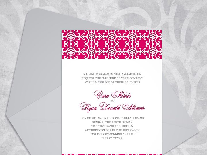 Tmx 1430232703683 Victorianelegancemockuprazz Bedford wedding invitation